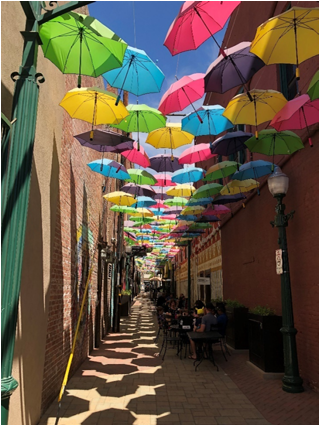 """ORANGE ALLEY UMBRELLAS"" REDLANDS, CALIFORNIA – 2018"